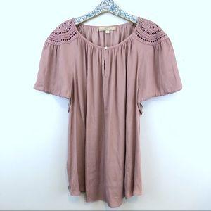 LOFT Plus boho short sleeve blouse size 22